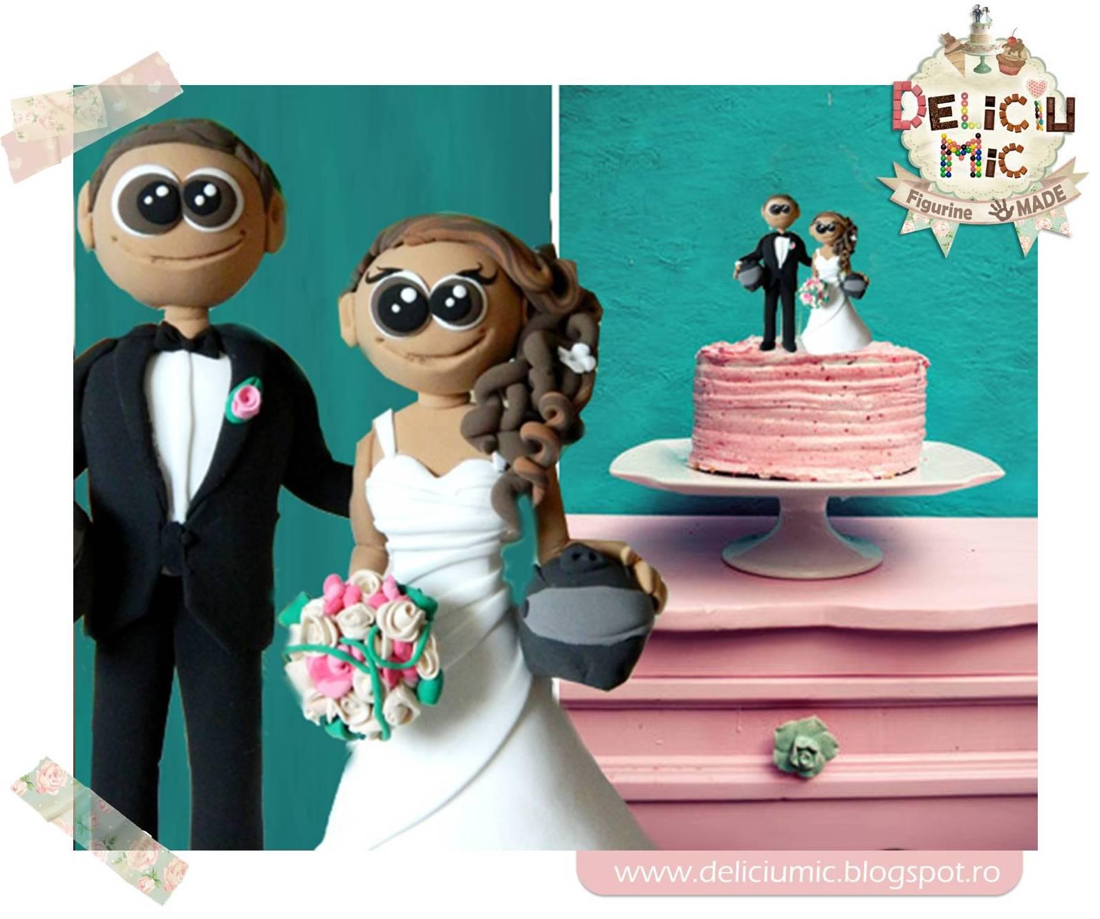 Figurine de tort nunta – Mire si Mireasa cu Casti demotor